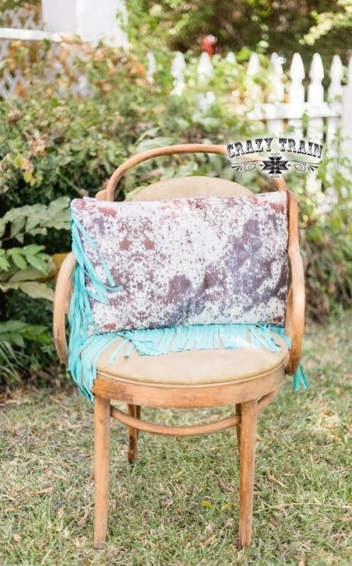 Fly Fringe Pillow* Cowhide