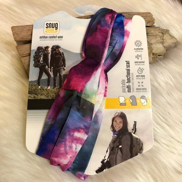 Snug Multi Water Color Functional UV Scarf Bandana