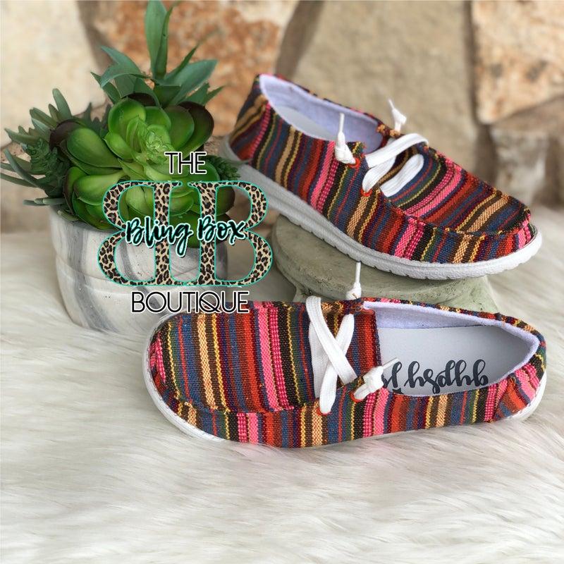 Gypsy Jazz Shilah Multi Serape Shoes