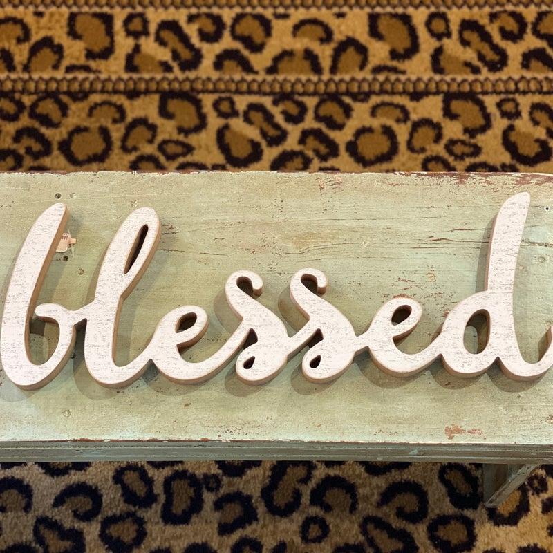 Blessed Cursive Sign