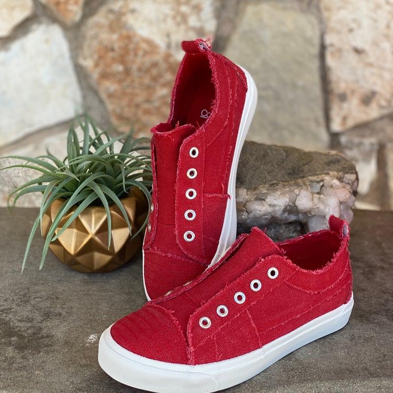 Babalu Red Slip on Sneaker