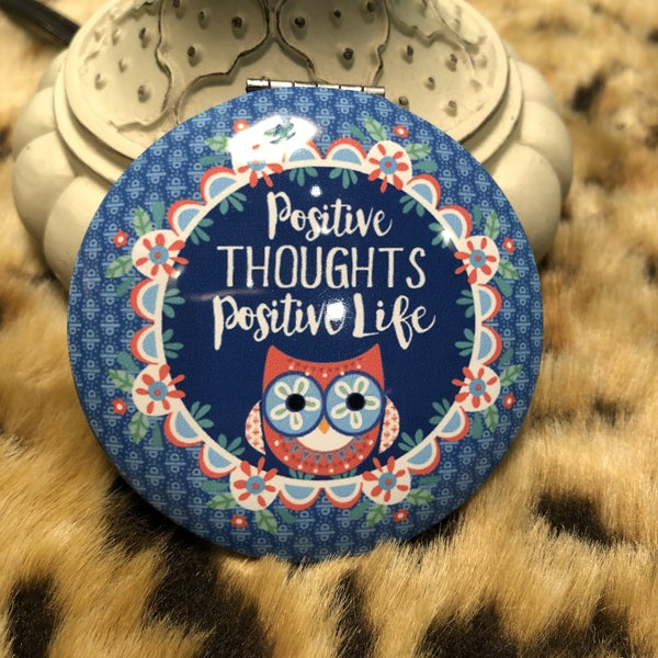 Positive Thoughts Positive Life Compact Mirror