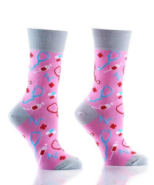 Pink Doctor Crazy Socks