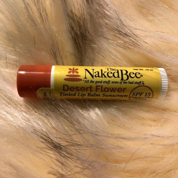 The Naked Bee Desert Flower Tinted  Lip Balm Sunscreen SPF 15 Orange Blossom Honey Flavor