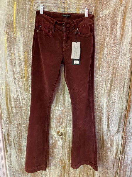 Mulberry Sadie Corduroy High Rise Flare Jeans SIZE