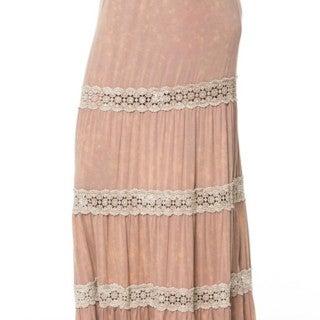 Mocha Lace Maxi Skirt