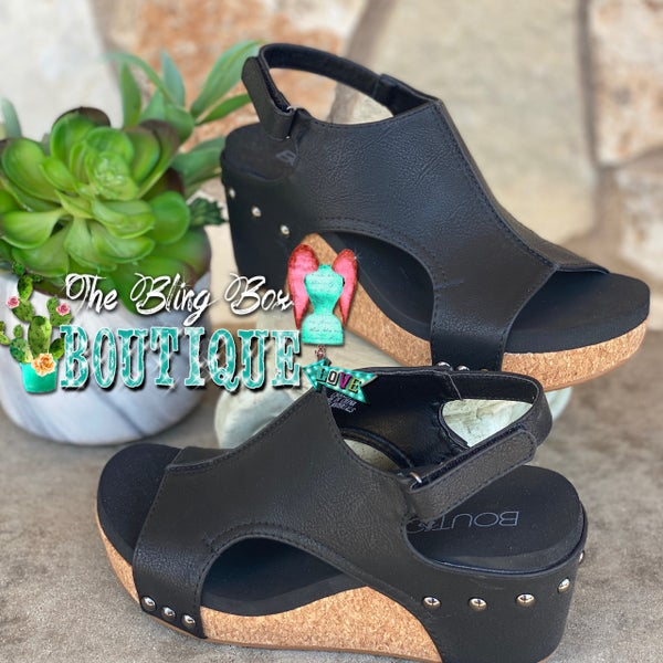 Corky's Carley Black Wedge Shoe