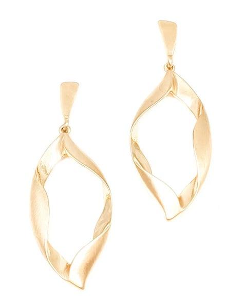 Gold Wanda Open Twisted Post Earrings