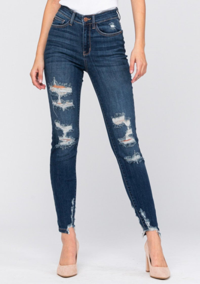 Judy Blue High Rise Cropped Skinny Jeans