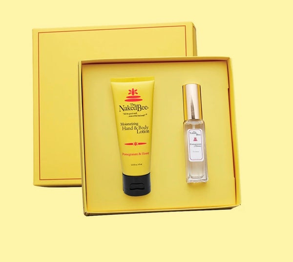 The Naked Bee Pomegranate & Honey Gift Set - Hand & Body Lotion and Perfume