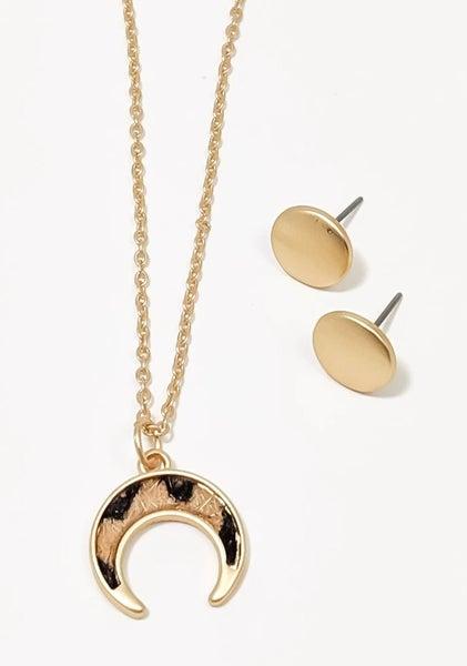 "Camilla Gold Leopard Squash 18"" Necklace Set"