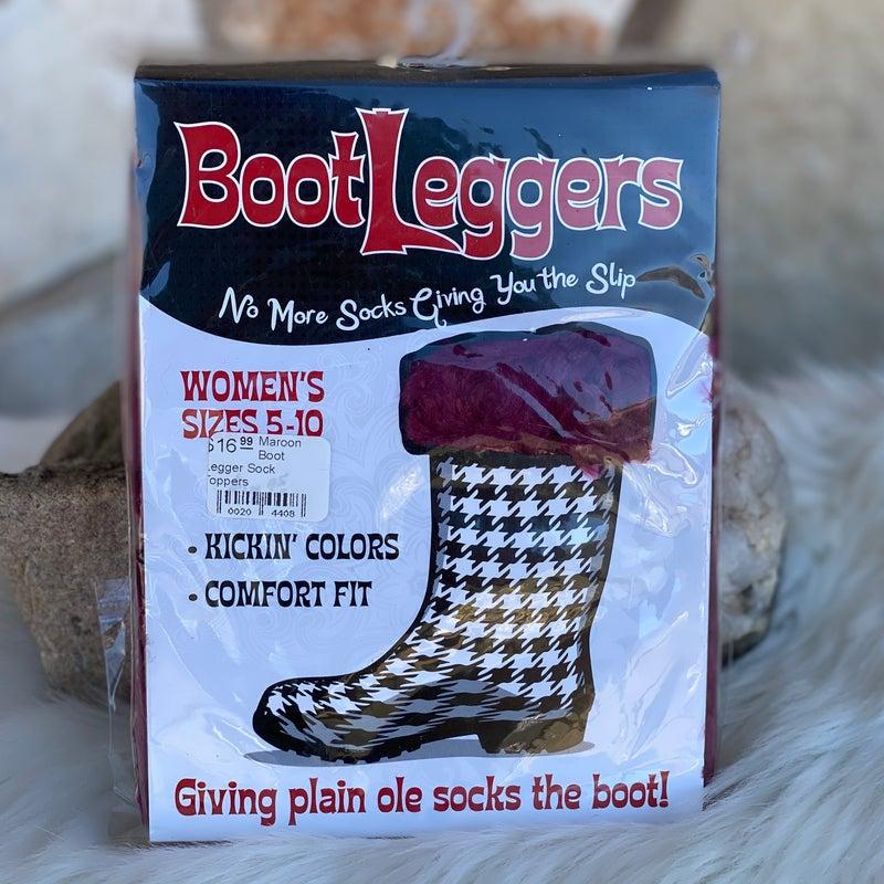 Maroon Boot Legger Sock Toppers