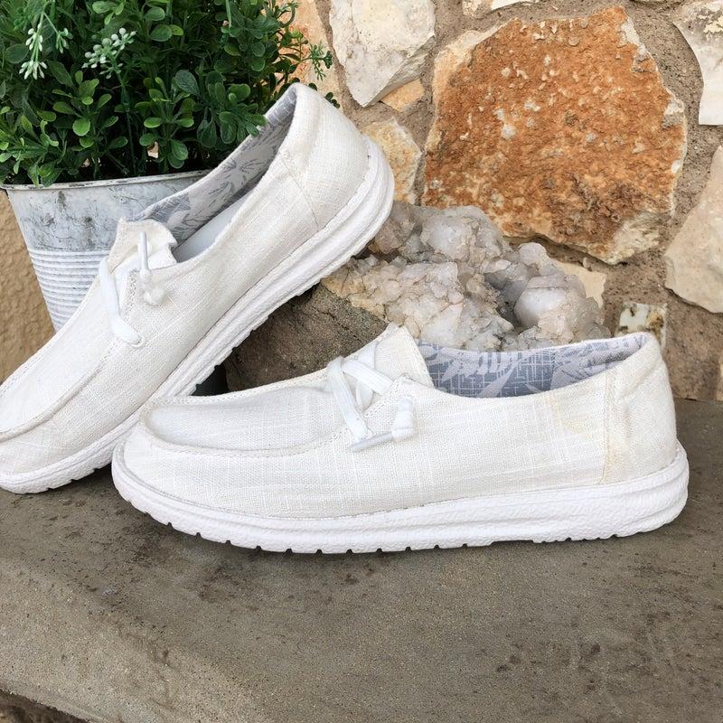 Gypsy Jazz Holly White Canvas Shoe