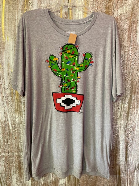 Christmas Cactus Feliz Navidad T-Shirt