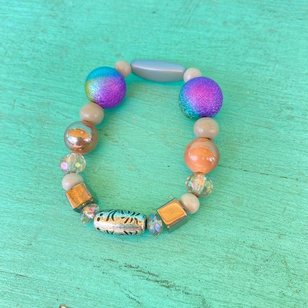 Bonnie Angela Purple Crystal  Stretch Bracelet #2