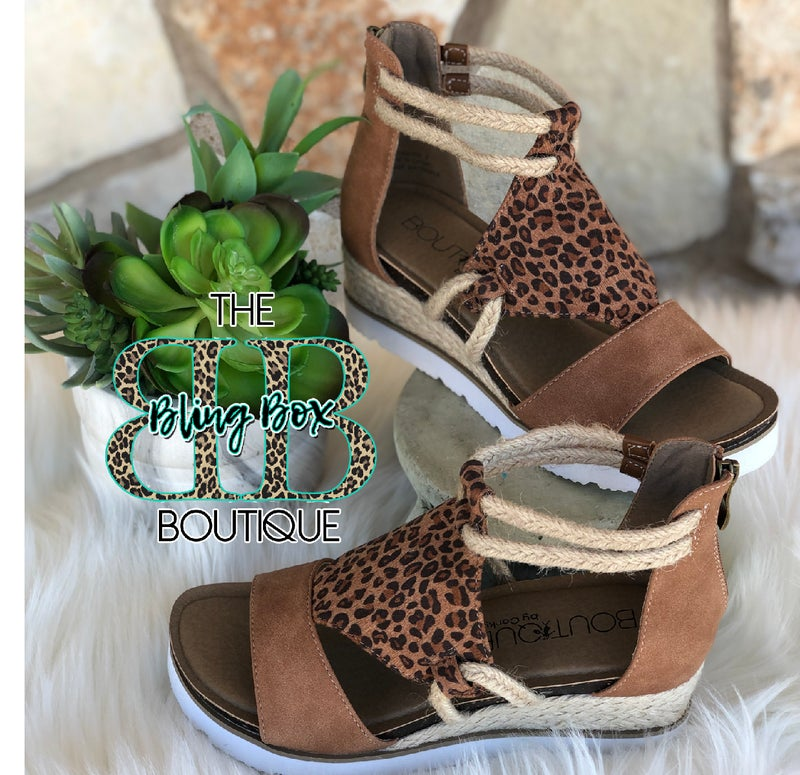 Corkys Browning Small Leopard Sandals