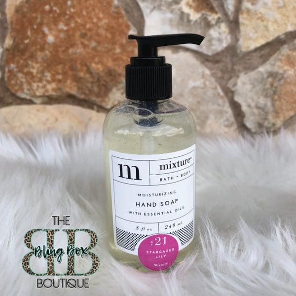 Mixture 8 oz No 21 Stargazer Lily Bath & Body Moisturizing Hand Soap with Essential Oils