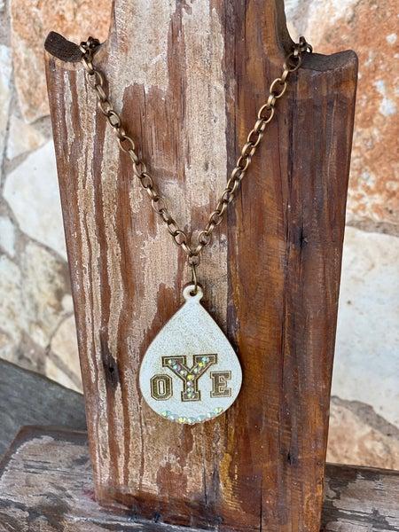 Custom Yoe Wooden Laser Cut Necklace on Chain