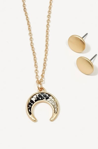 "Camilla Gold Snake Skin Squash 18"" Necklace Set"