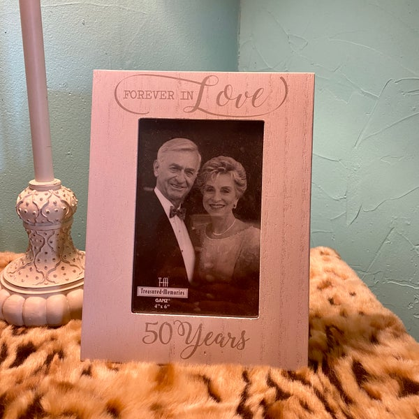 """Forever in Love 50 Years 4"""" x 6"""" Picture Frame"""