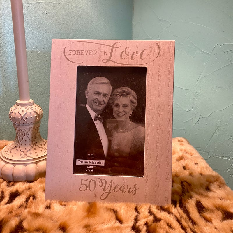 "Forever in Love 50 Years 4"" x 6"" Picture Frame"