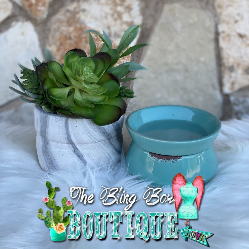 Swan Creek Classic Turquoise Wax Melter Set