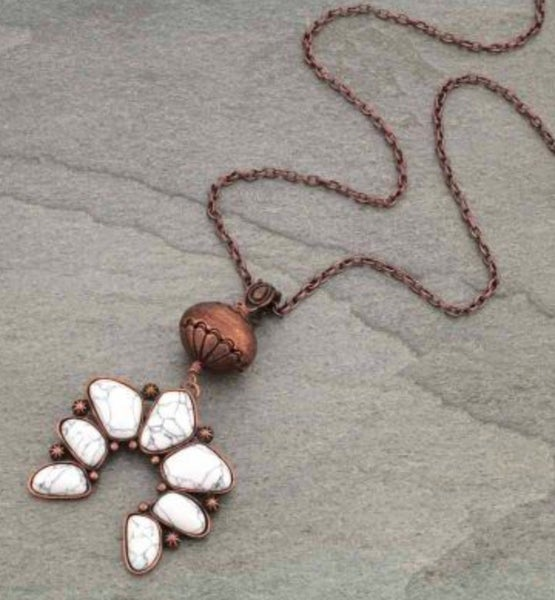Cream Squash Charm Necklace on Bronze Chain