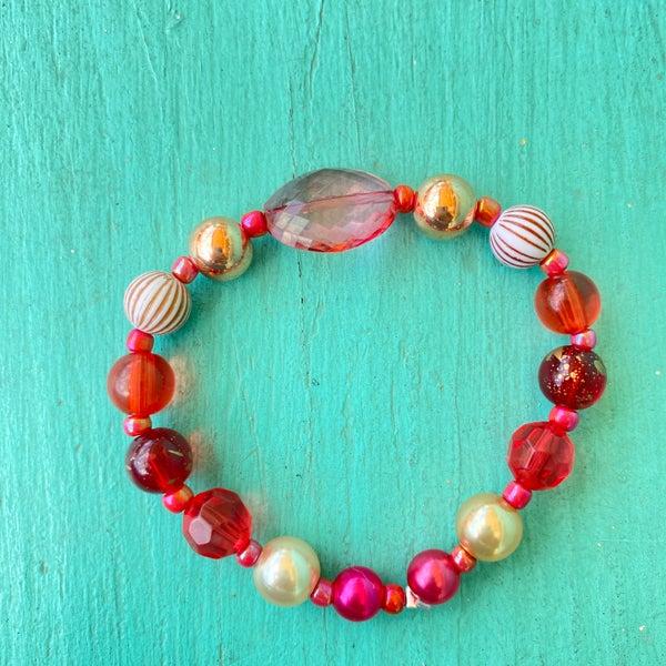 Bonnie Angela Pink Crystal Stretch Bracelet #1