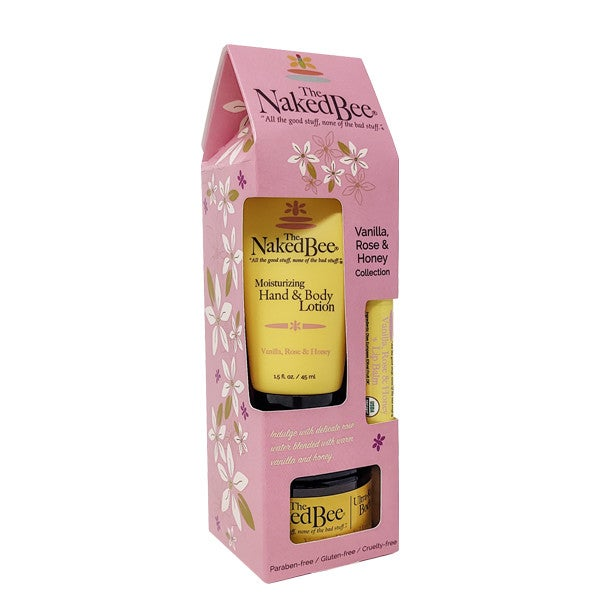 The Naked Bee Vanilla, Rose & Honey Gift Collection