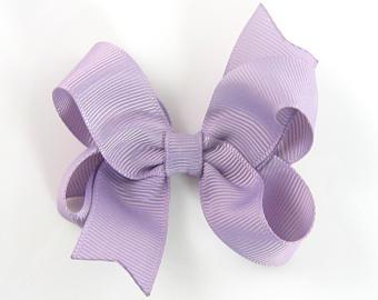 Small Light Purple Hair Bow