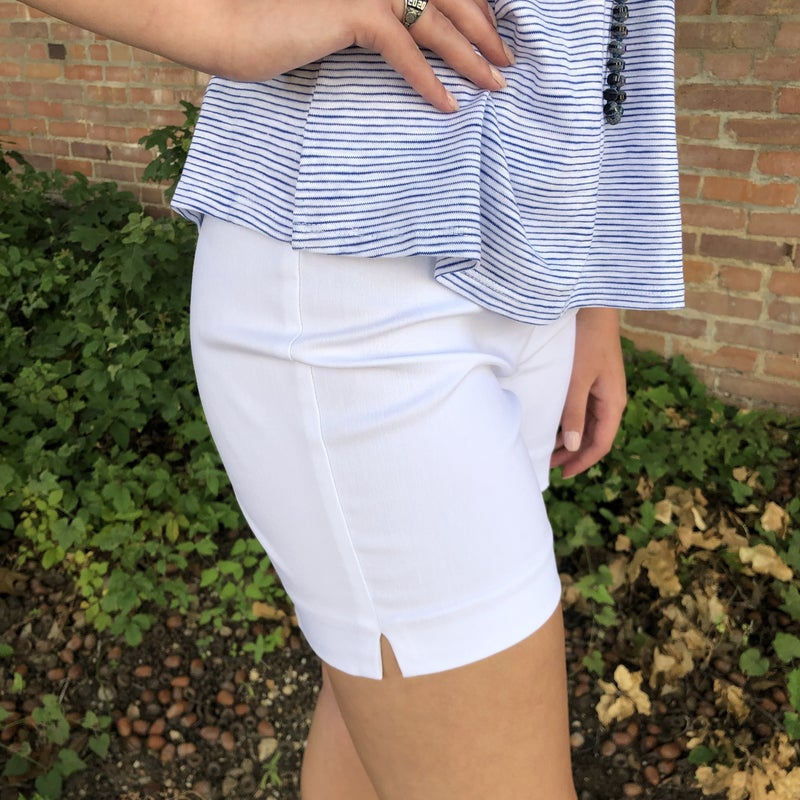 White Solid Millennium Pull on Shorts