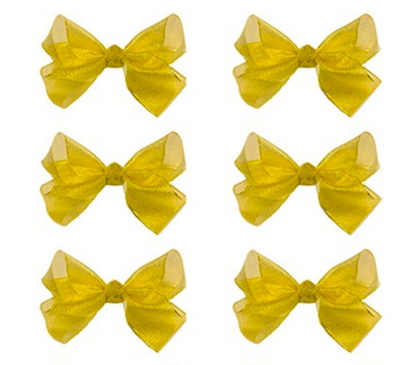 Medium Gold Glitter Bow