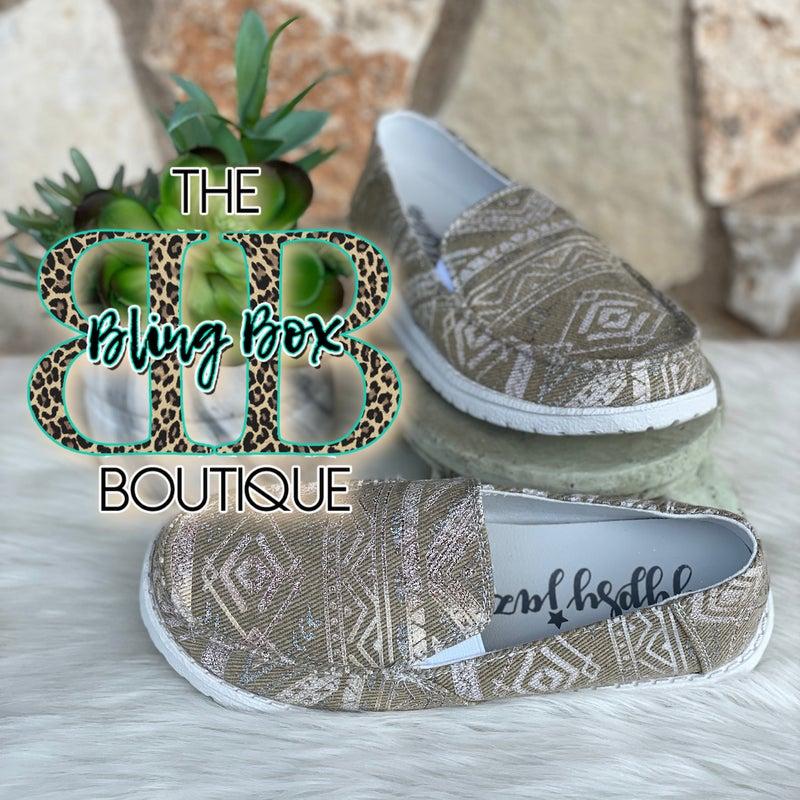 Gypsy Jazz Natural Aztec Slip On Shoe