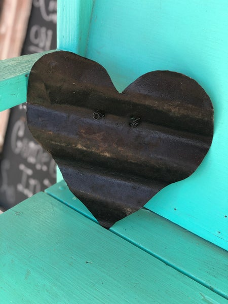 Medium 8 X 8 Rustic Tin Heart Cut Out
