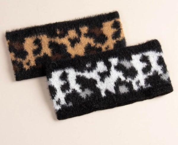 Brown Leopard Winter Headwrap