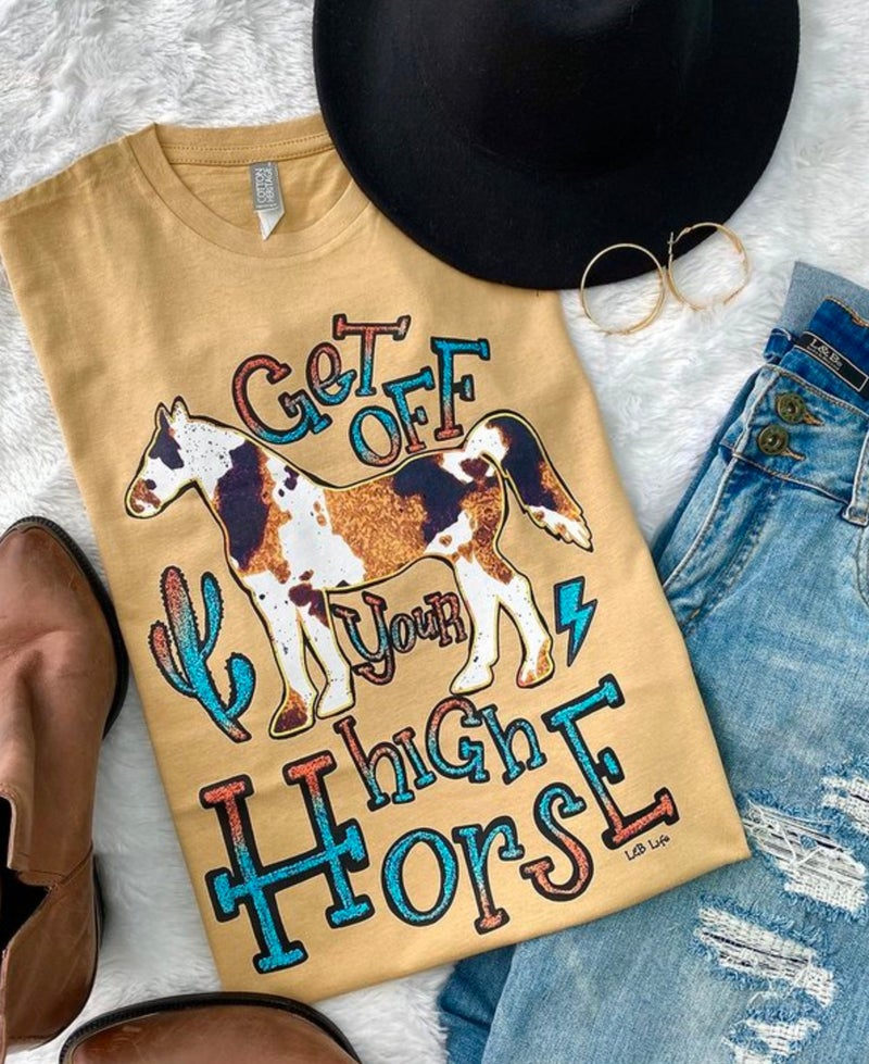 Mustard Get Off Your High Horse Tee