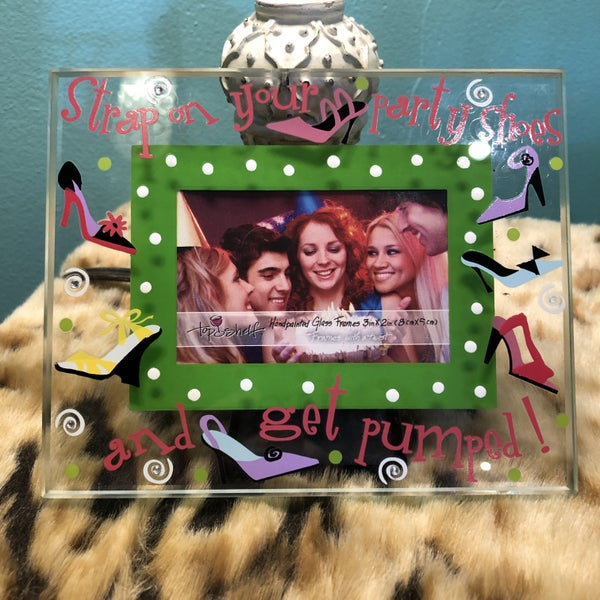 "Strap on your party shoes and get pumped 3"" x 2"" Picture Frame"