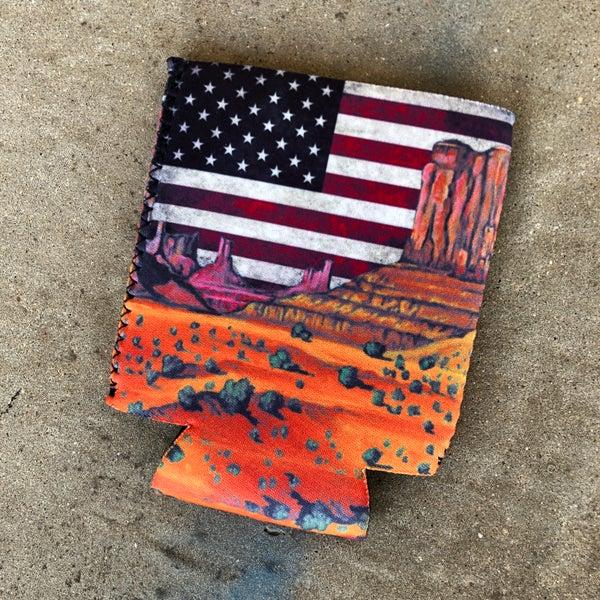 Grand Canyon American Flag Sky Koozie