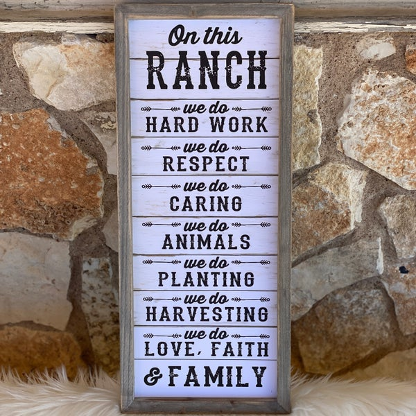 "20"" x 9"" On This Ranch Home Decor Sign"
