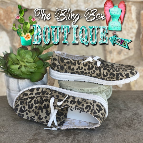 Gypsy Jazz Holly Leopard Canvas Shoe