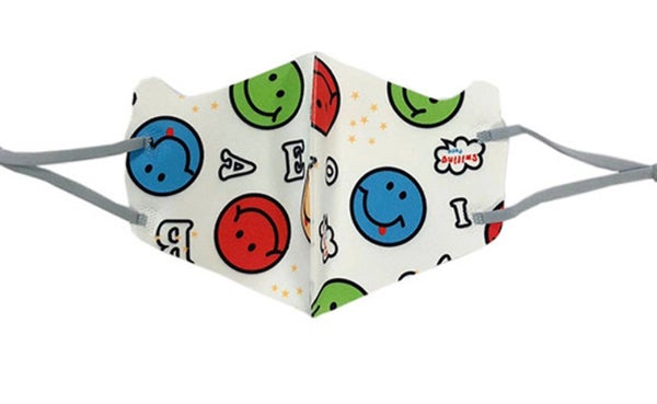 Kids I Love Smiling Happy Face Printed Mask