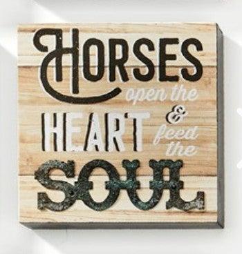 "Horses Open The Heart Wall Block - 5""L x 5""W"