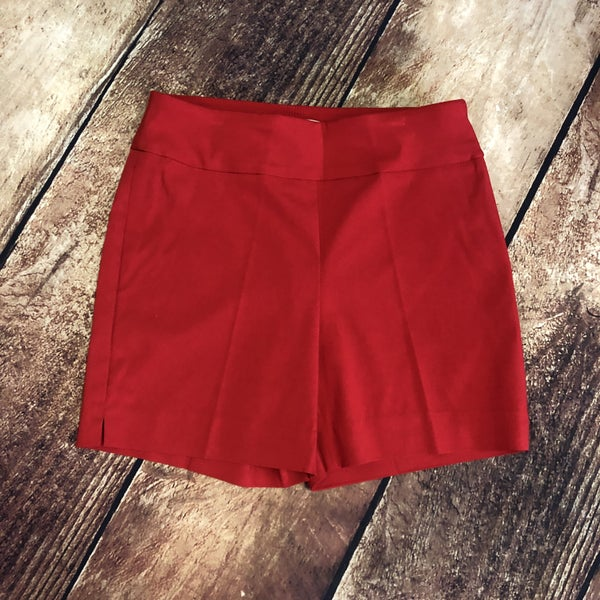 Red Solid Millennium Pull on Shorts