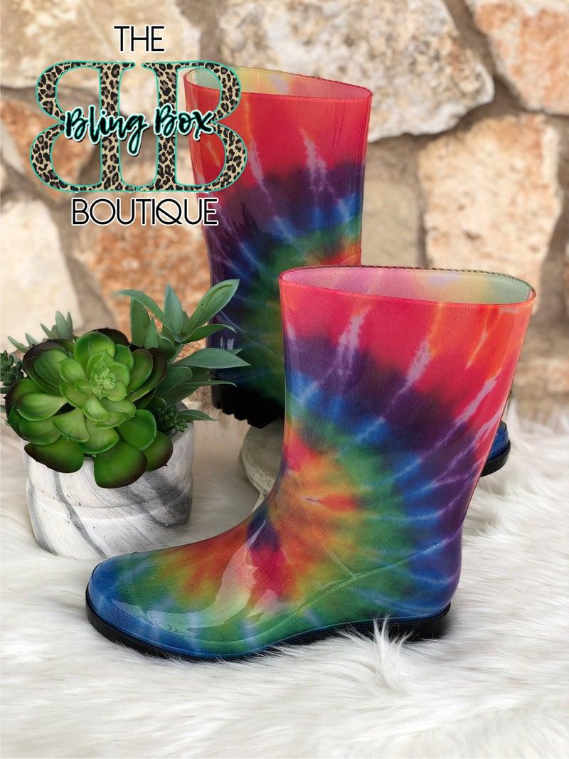 Corkys Riverwalk Tie Dye Rain Boots