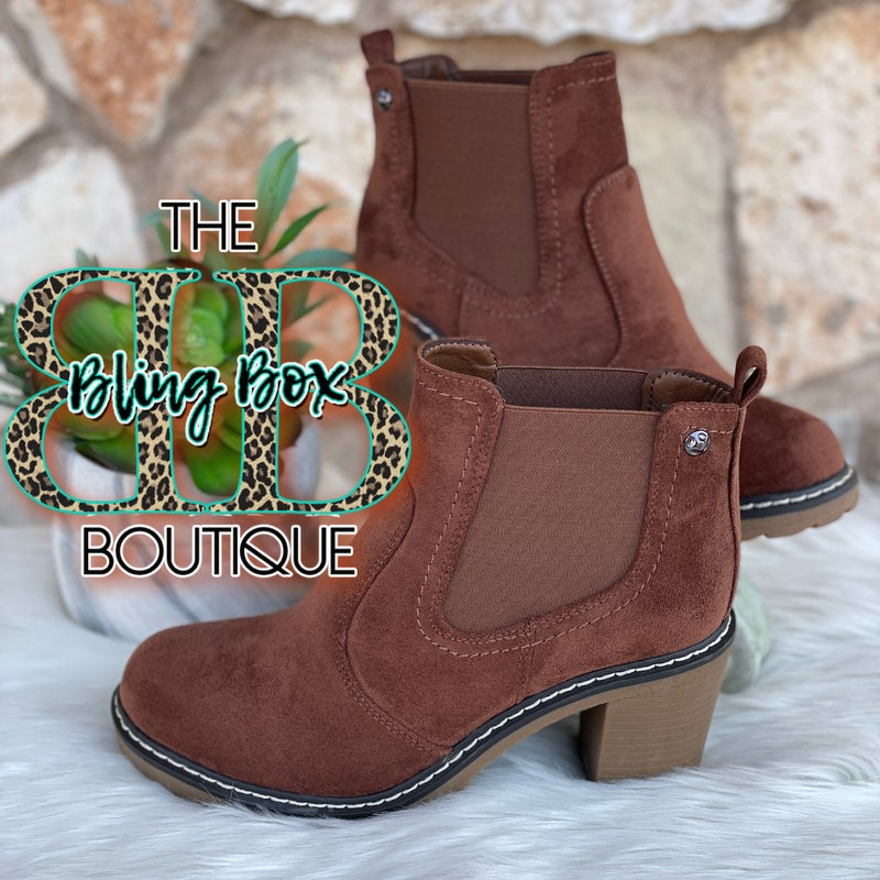 Rocky Brown Corkys Suede Bootie