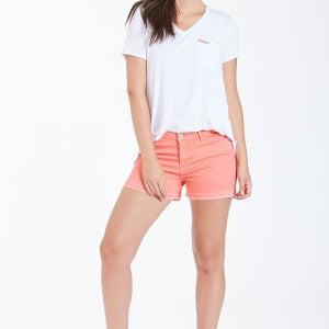 Bright Coral Gigi Highrise Shorts SZ