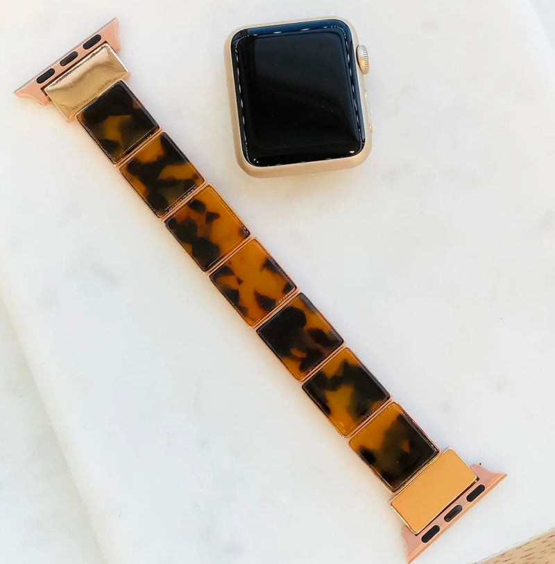 Brown Tortoise Shell Apple Watchband 38/40 mm