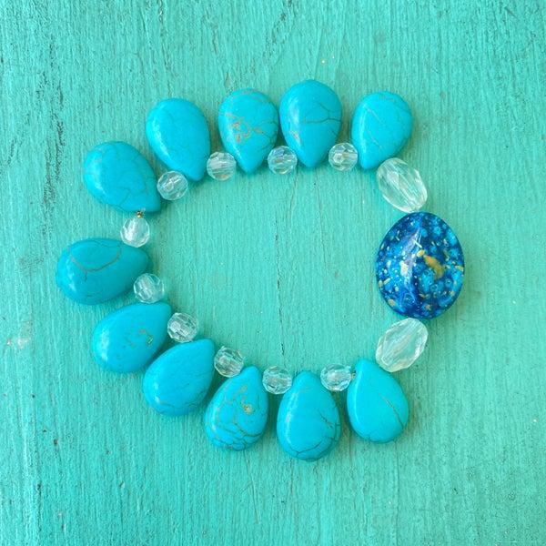 Bonnie Angela Turquoise Stretch Bracelet #1