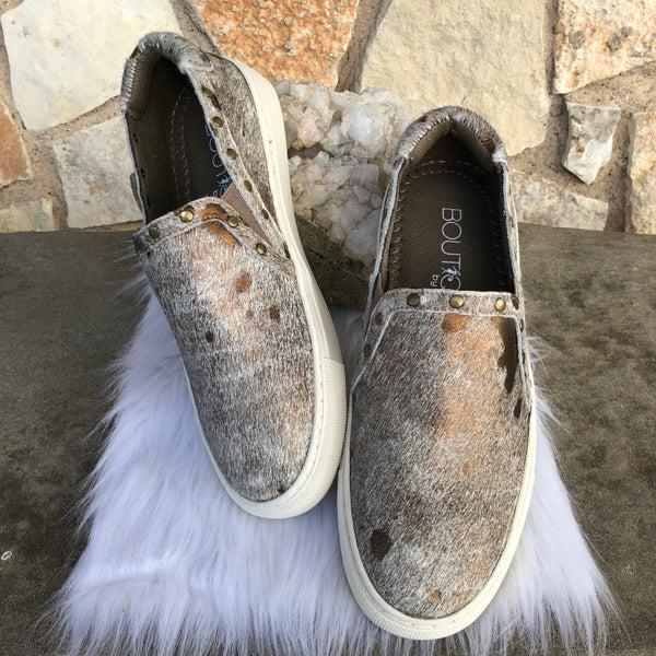 Pine Top - Bronze Cowhide Sneaker SIZE
