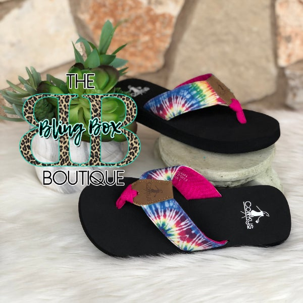 Corkys Bahama Mama Bright Multi Flip Flops